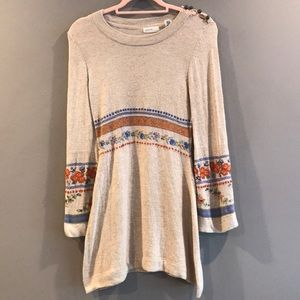 Sleeping on snow Anthropologie  dress sweater S